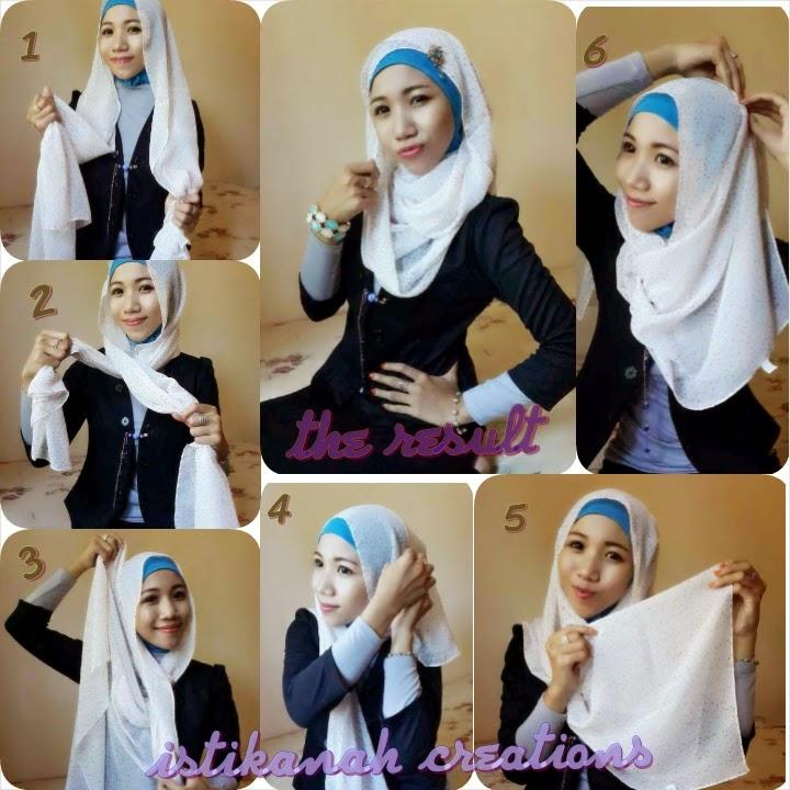 Tutorial Hijab Pashmina Chiffon Cantik Dan Simpel