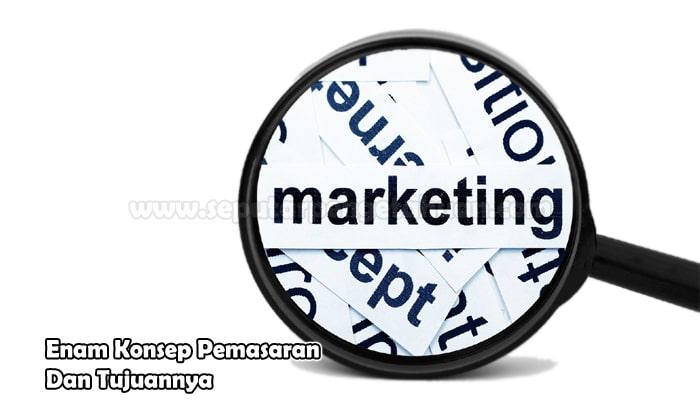 Enam Konsep Pemasaran Dan Tujuannya