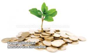 Pengertian Investasi Menurut Para Ahli Lengkap