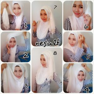 Tutorial Hijab Pasmina Kashmire Simple dan Trendy