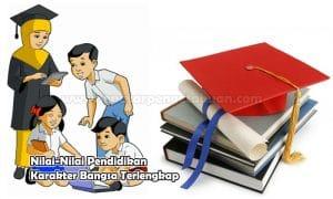 Nilai-Nilai Pendidikan Karakter Bangsa Terlengkap