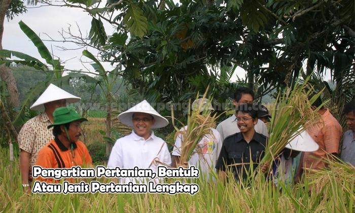 Pengertian Pertanian Bentuk Atau Jenis Pertanian Lengkap