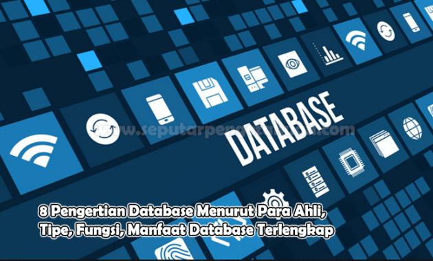 8 Pengertian Database Menurut Para Ahli, Tipe, Fungsi, Manfaat Database