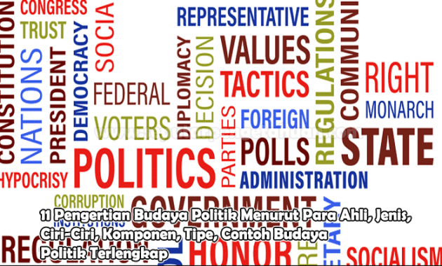 11 Pengertian Budaya Politik Menurut Para Ahli, Jenis, Ciri-Ciri, Komponen, Tipe, Contoh Budaya Politik