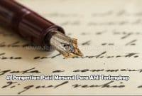 41 Pengertian Puisi Menurut Para Ahli