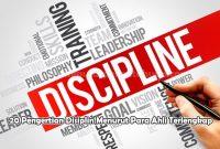 20 Pengertian Disiplin Menurut Para Ahli