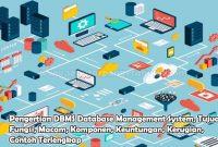 Pengertian DBMS Database Management System, Tujuan, Fungsi, Macam, Komponen, Keuntungan, Kerugian, Contoh