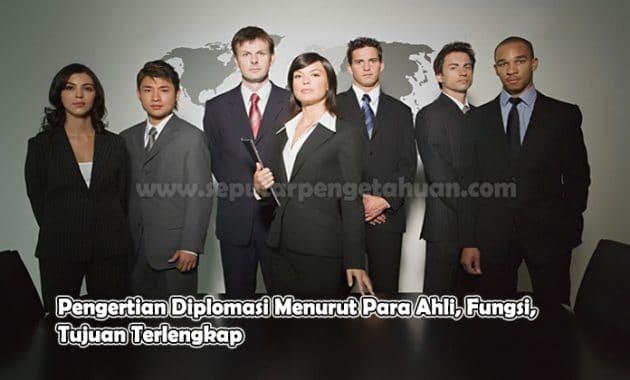 Pengertian Diplomasi Menurut Para Ahli, Fungsi, Tujuan