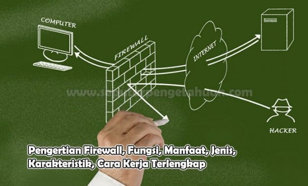 Pengertian Firewall, Fungsi, Manfaat, Jenis, Karakteristik, Cara Kerja