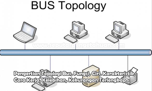 Pengertian Topologi Bus, Fungsi, Ciri, Karakteristik, Cara Kerja, Kelebihan, Kekurangan