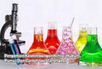 Pengertian Kesetimbangan Kimia, Hukum, Rumus Dan Contoh Soal