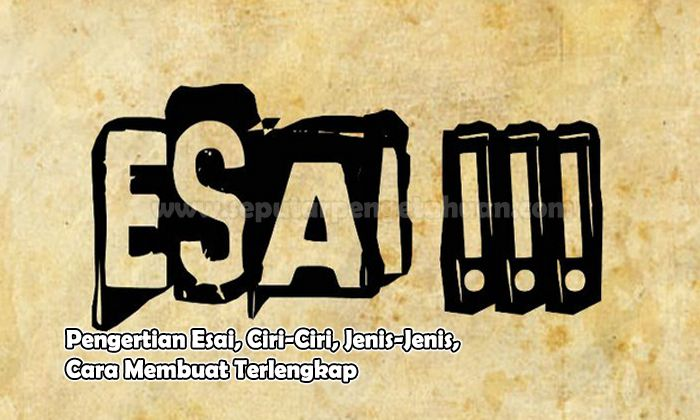 Pengertian Esai, Ciri-Ciri, Jenis-Jenis, Cara Membuat