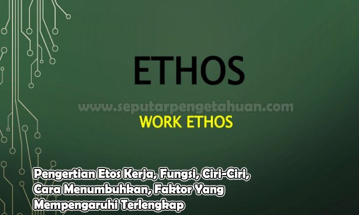 Pengertian Etos Kerja, Fungsi, Ciri-Ciri, Cara Menumbuhkan, Faktor Yang Mempengaruhi