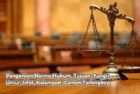Pengertian Norma Hukum, Tujuan, Fungsi, Unsur, Sifat, Kelompok, Contoh