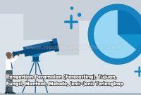 Pengertian Peramalan (Forecasting), Tujuan, Fungsi, Manfaat, Metode, Jenis-Jenis Terlengkap