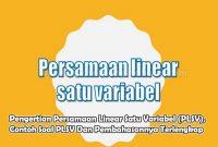 Pengertian Persamaan Linear Satu Variabel (PLSV), Contoh Soal PLSV Dan Pembahasannya