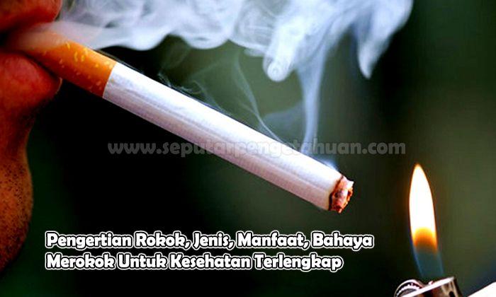 Pengertian Rokok, Jenis, Manfaat, Bahaya Merokok Untuk Kesehatan