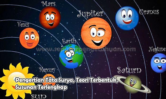 Pengertian Tata Surya, Teori Terbentuk, Susunan