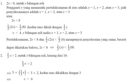 contoh soal pertidaksamaan linear satu variabel