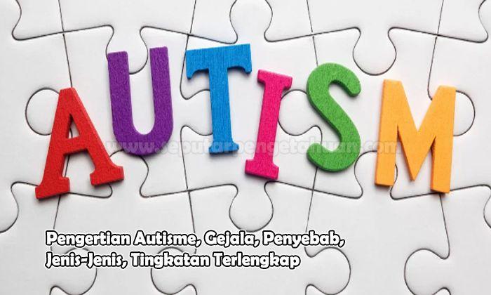 Pengertian Autisme, Gejala, Penyebab, Jenis-Jenis, Tingkatan