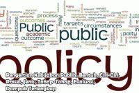 Pengertian Kebijakan Publik, Bentuk, Ciri-Ciri, Proses, Jenis, Tahap-Tahap, Evaluasi, Dampak