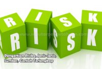 Pengertian Risiko, Jenis-Jenis, Sumber, Contoh