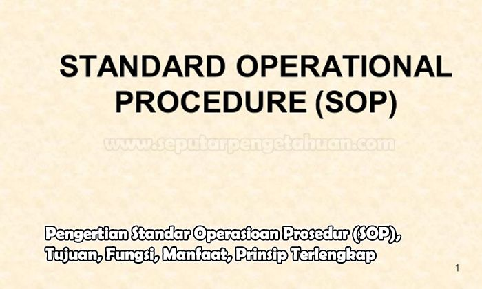 Pengertian Standar Operasional Prosedur (SOP), Tujuan, Fungsi, Manfaat, Prinsip