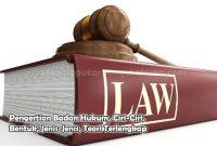 Pengertian Badan Hukum, Ciri-Ciri, Bentuk, Jenis-Jenis, Teori