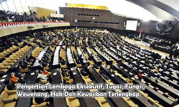 Pengertian Lembaga Eksekutif, Tugas, Fungsi, Wewenang, Hak Dan Kewajiban
