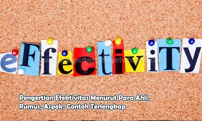 Pengertian Efektivitas Menurut Para Ahli, Rumus, Aspek, Contoh