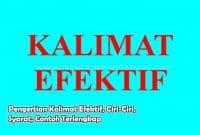 Pengertian Kalimat Efektif, Ciri-Ciri, Syarat, Contoh