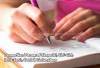 Pengertian Paragraf Eksposisi, Ciri-Ciri, Jenis-Jenis, Contoh