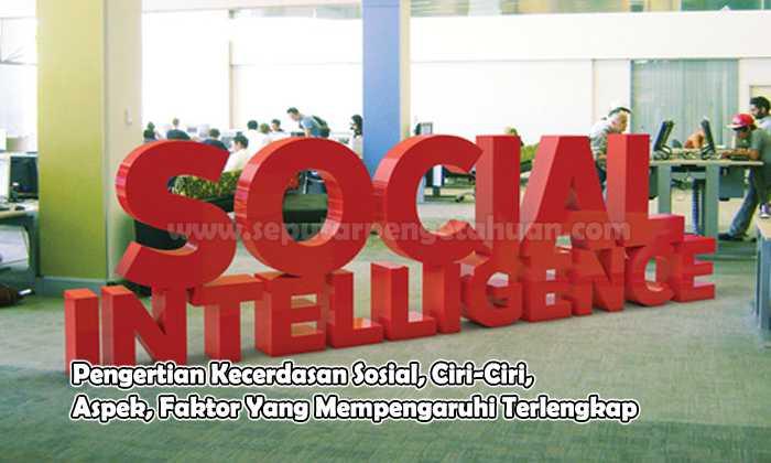 Pengertian Kecerdasan Sosial, Ciri-Ciri, Aspek, Faktor Yang Mempengaruhi