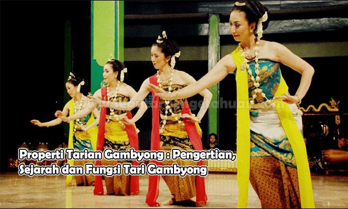 Properti Tari Gambyong Pengertian Sejarah Dan Fungs