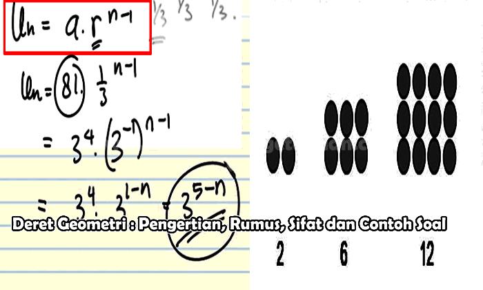 Deret Geometri Pengertian Rumus Sifat Dan Contoh